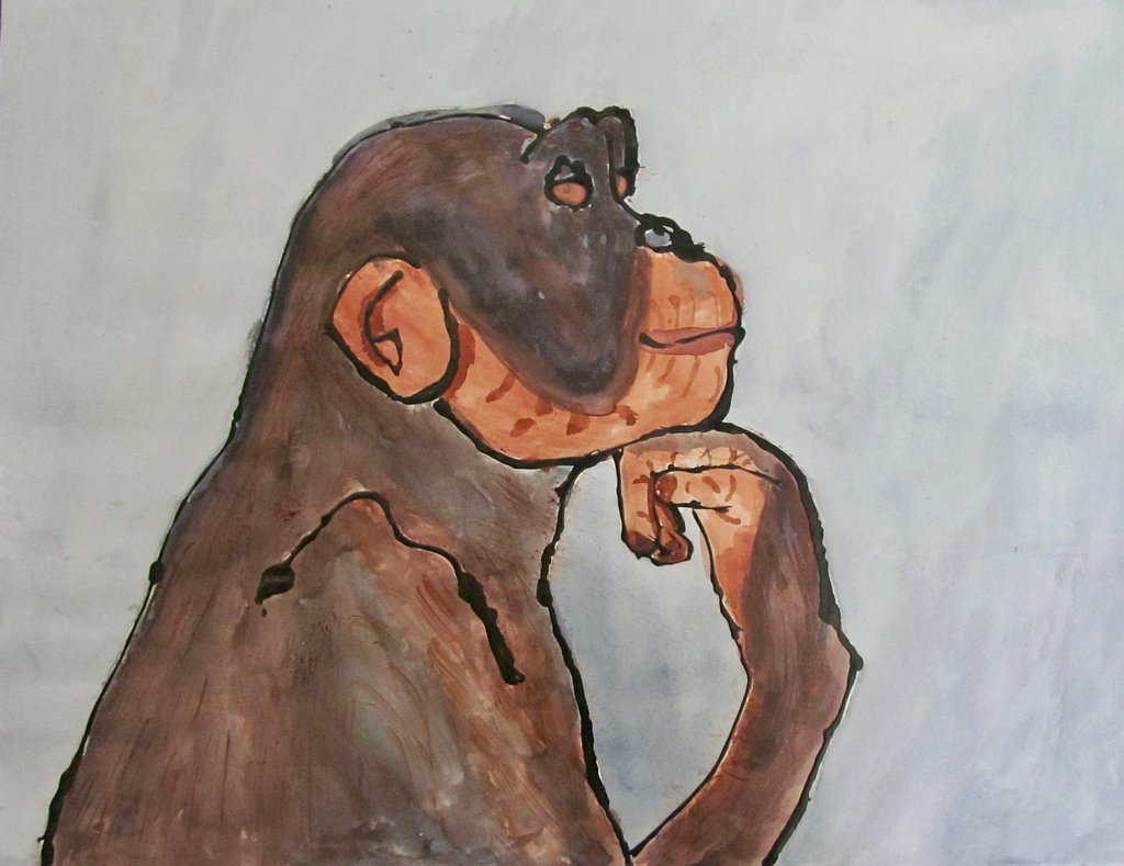 Drawing of a monkey