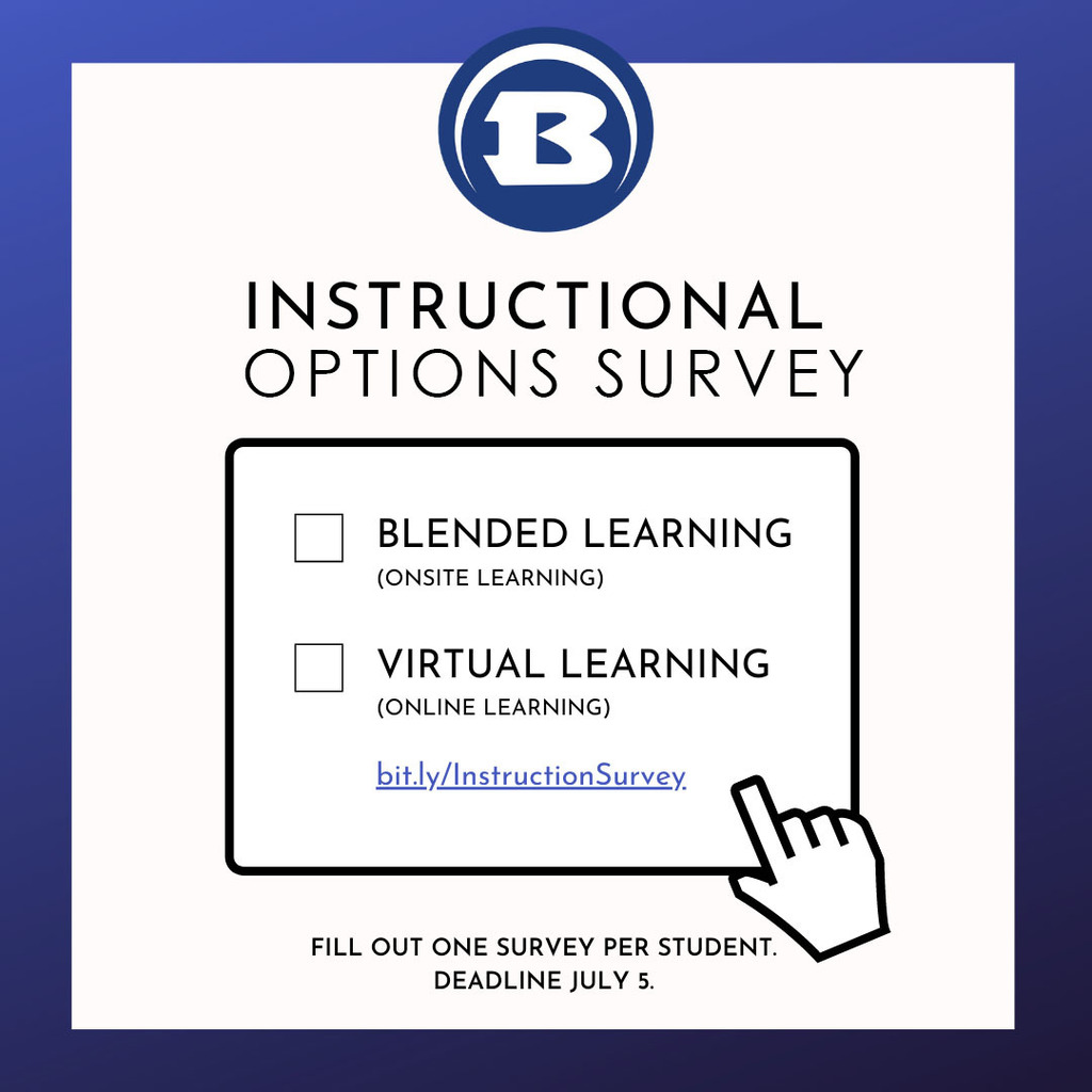 Instructional Survey Options Graphic