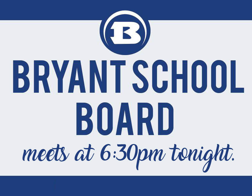bryant school board meeting notice image
